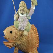 仏像 日蓮聖人三宝尊付(白檀淡彩色)