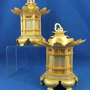 吊灯篭 本願寺派用の六角型猫脚(東の脚は丁足)