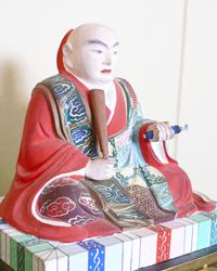 日蓮聖人像の修復前
