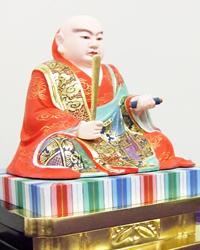 日蓮聖人像の修復後