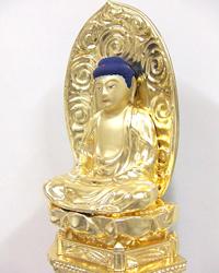 木製の座像釈迦如来の修復後