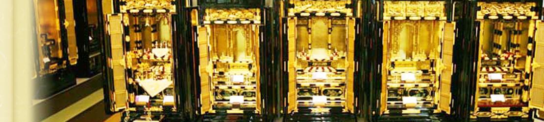 お仏壇展示の様子